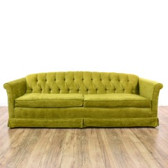 Green Velvet Sofa Couch Knole Style Chartreuse Gradschoolfairs