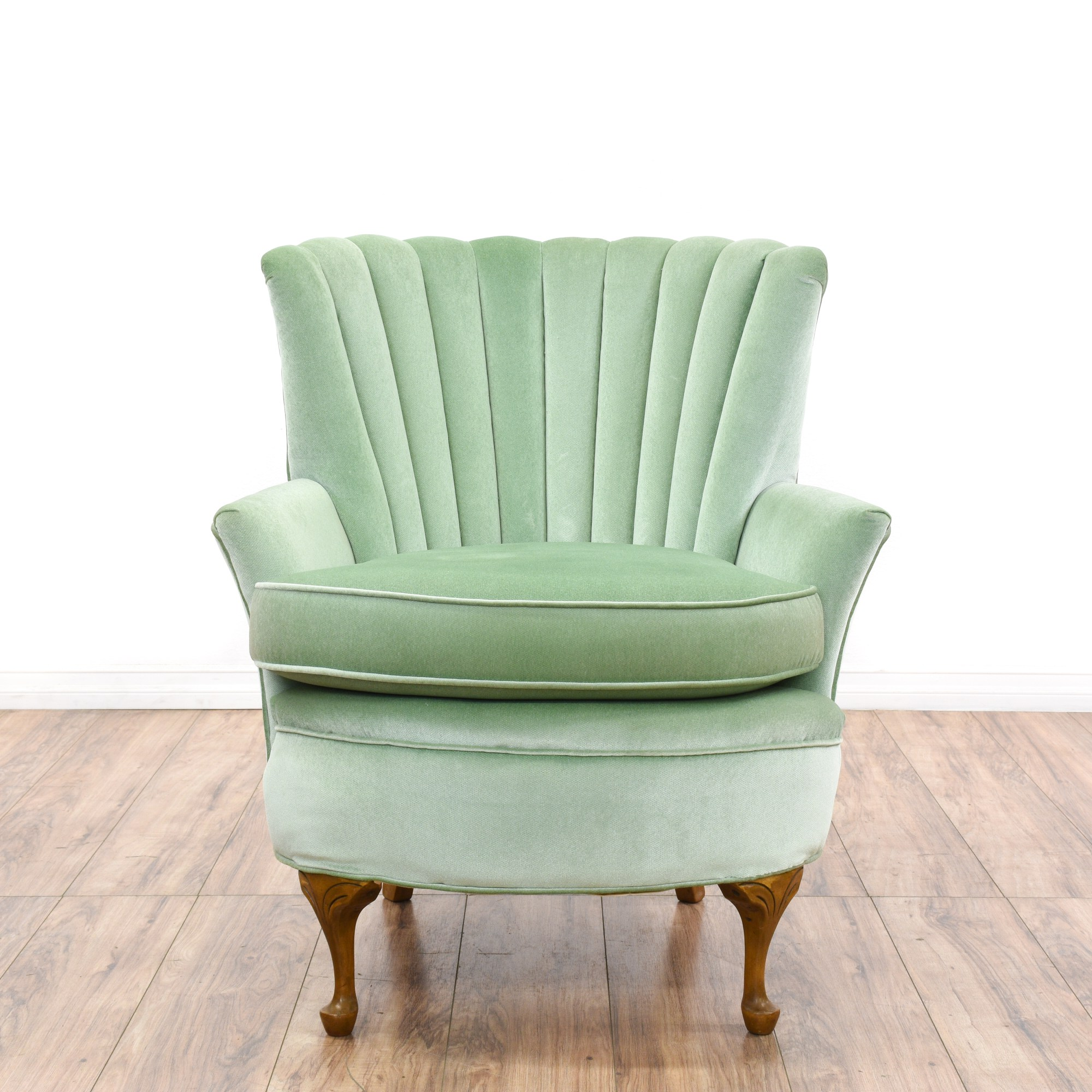 Mint Accent Chair Regency Mint Green Velvet Channel Back Armchair Loveseat