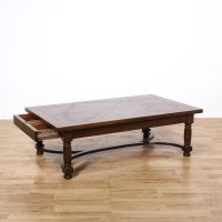 Large Mahogany Rectangular Coffee Table | Loveseat Vintage ...