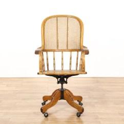 Swivel Office Chair With Wheels Outdoor Chairs Uk Oak & Wicker Desk | Loveseat Vintage Furniture San Diego Los Angeles
