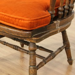 Rustic Accent Chairs Bean Bag Chair Filler Carved Oak High Back Loveseat