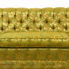 Green Floral Sofa Steelcase For Sale Yellow Tufted Chesterfield Loveseat