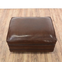 Chocolate Brown Leather Sectional Sofa With 2 Storage Ottomans Bed Look Vinyl Rolling Ottoman Loveseat