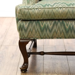 Ethan Allen Wingback Chairs French Country Dining Table And Quotethan Quot Zigzag Armchair Loveseat Vintage