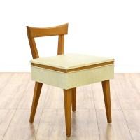 Mid Century Sewing Chair w/ Storage   Loveseat Vintage ...
