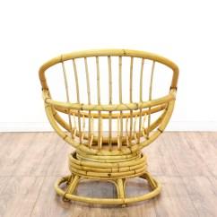 Swivel Chair Egg Wheel Rate Rattan Loveseat Vintage Furniture San