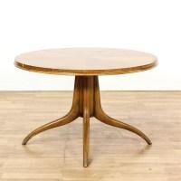 Round Mid Century Modern Dining Set w/ 6 Chairs | Loveseat ...