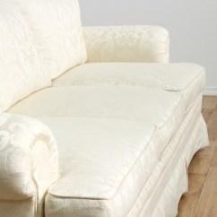 Damask Sofa Bed Leather Three Seater Brocade White 2 Loveseat Vintage Furniture