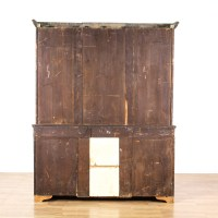 Antique 2 Part Glass Front Display Cabinet | Loveseat ...
