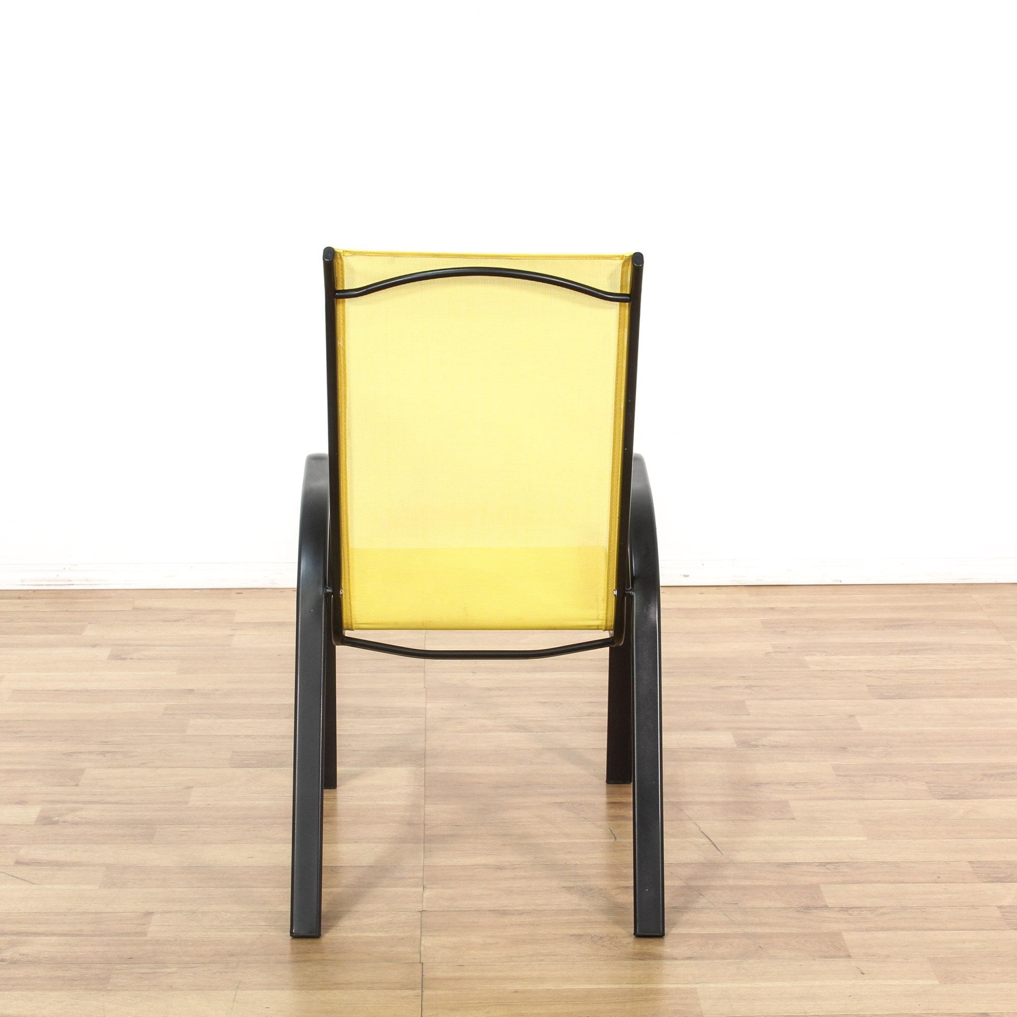 Yellow Metal Chairs Set Of 4 Black And Yellow Metal Outdoor Patio Chairs