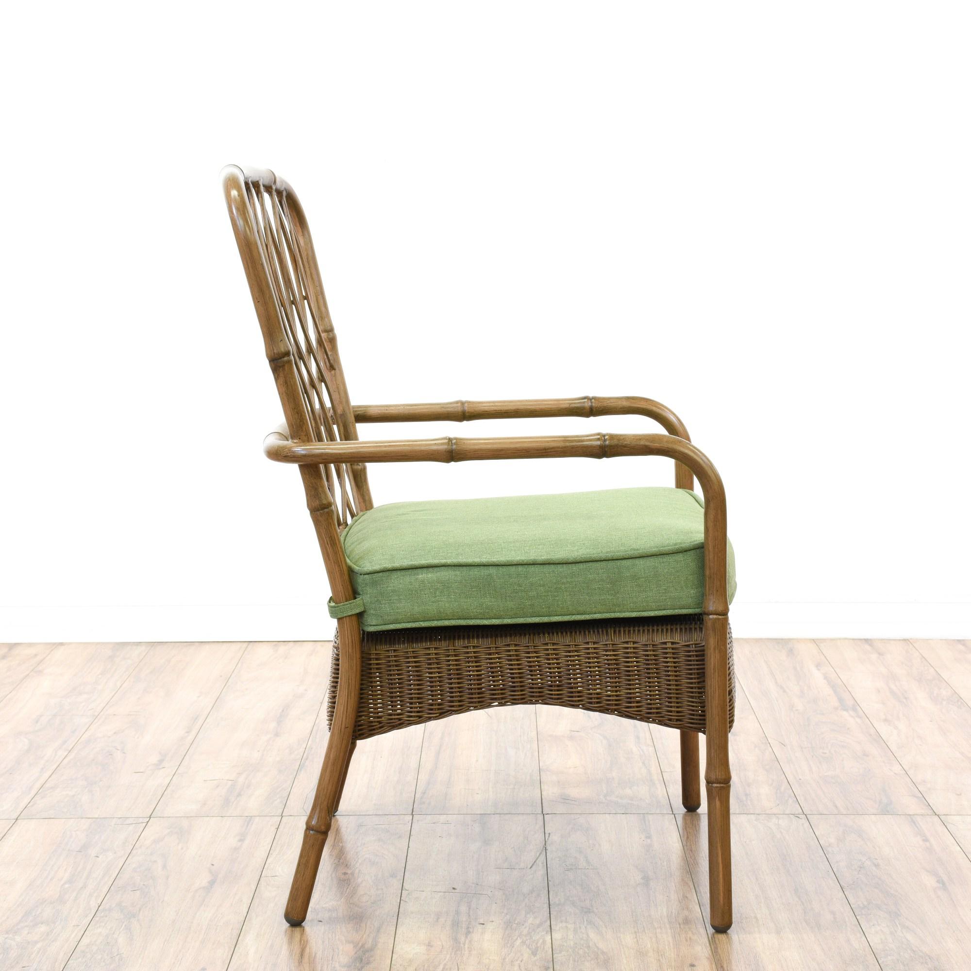 Set of 4 Hampton Bay Wicker  Metal Patio Chairs