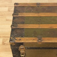 Green Metal Trunk Coffee Table | Loveseat Vintage ...