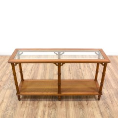 Legare Bamboo Sofa Table Retro Bed Nz Tropical Carved Faux Console Loveseat