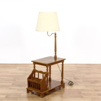 Mid Century Magazine Rack Lamp End Table | Loveseat ...