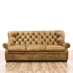 Vine Brown Leather Tufted Sofa Mart Harker Heights Texas Distressed Club 2 Loveseat