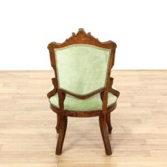 Victorian Accent Chair Wheel Price Bd Green Velvet Upholstered Carved Loveseat