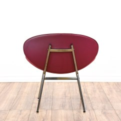 Modern Red Chair Formal Living Room Accent Chairs Mid Century Fishnet Style Loveseat