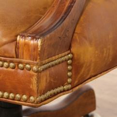Brown Leather Studded Sofa Baxton Studio Kaspar Slate Gray Fabric Modern Sectional Brass Office Chair Loveseat