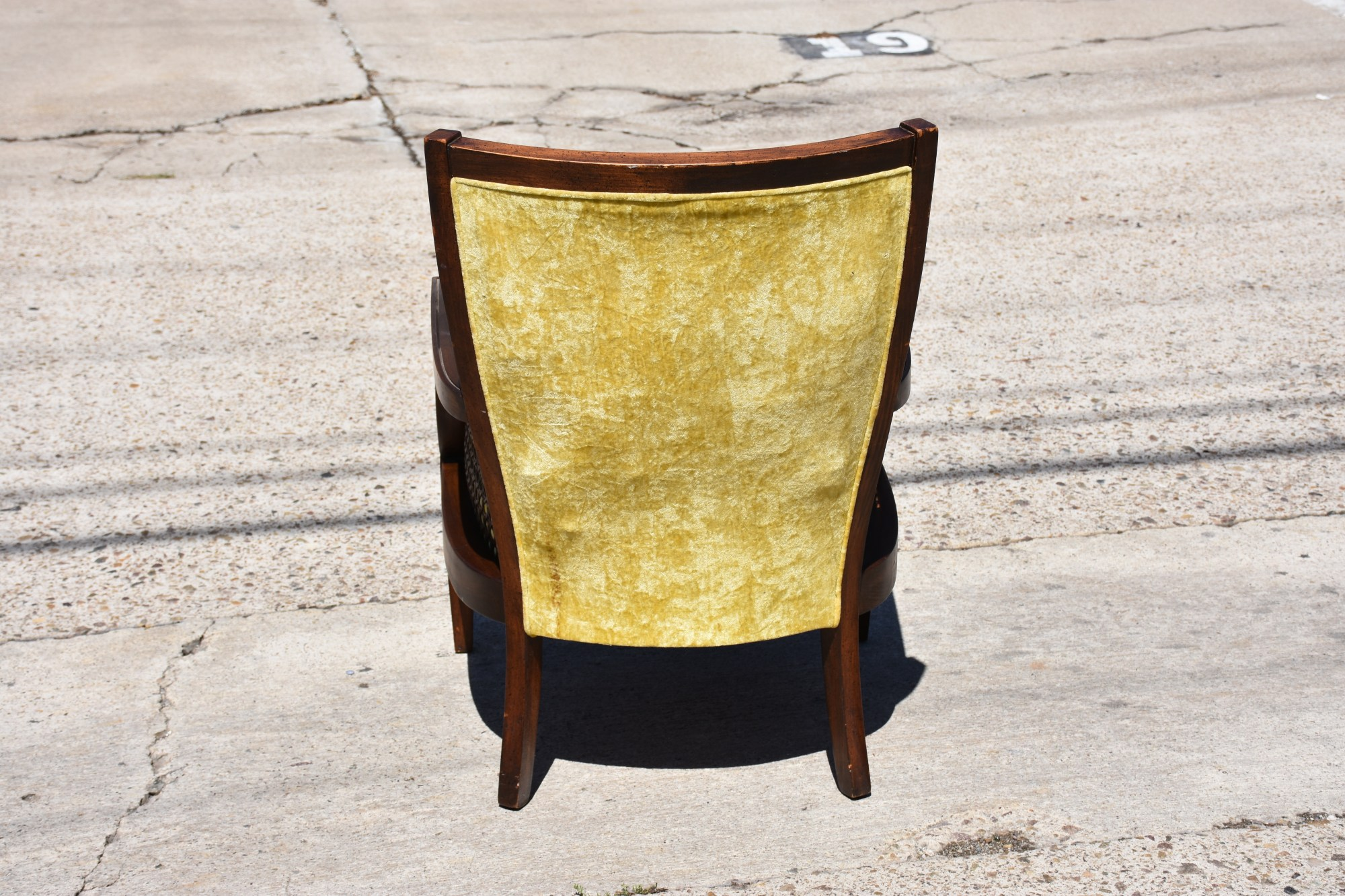 Yellow Side Chair Vintage Light Yellow Upholstered Cane Accent Chair
