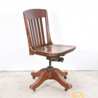 Vintage Solid Wood Swivel Office Chair | Loveseat Vintage ...