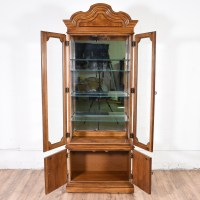 Tall Curio Cabinet w/ Shelves | Loveseat Vintage Furniture ...