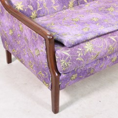 Purple Upholstered Dining Chairs Folding Outdoor Furniture Sofa Loveseat Vintage San