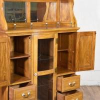 Tall Bar Cabinet Buffet w/ Mirror | Loveseat Vintage ...