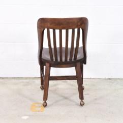 Antique Desk Chair Wheels Robins Egg Blue Wooden W Loveseat Vintage Furniture