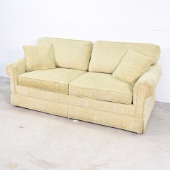 Sofa Cleaning Los Angeles Crushed Velvet Upholstery Retro Green And Beige Patterned Loveseat Vintage