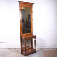 Solid Wood Hall Tree w/ Mirror | Loveseat Vintage ...