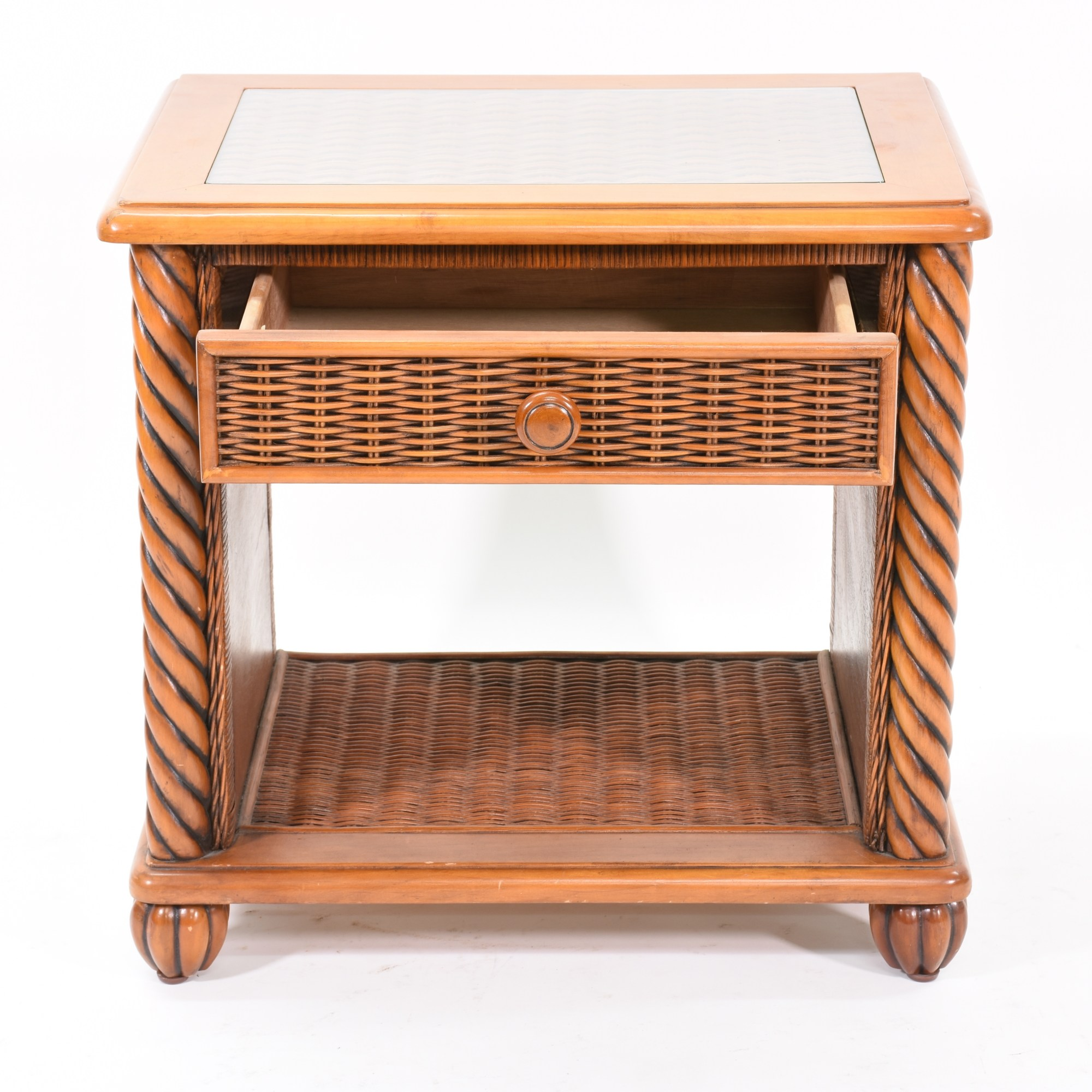 Wicker Nightstand Dresser
