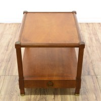 Mid Century 2 Tier 1 Drawer End Table | Loveseat Vintage ...