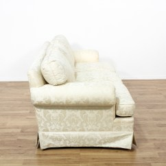 Damask Sofa Bed Newry Brocade White Loveseat Vintage Furniture San