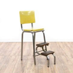 Old Fashioned Kitchen Chair Step Stool Slate Appliances Retro Industrial Yellow Loveseat Vintage