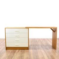 """Ervi-Mobler"" Danish Modern Convertible Desk | Loveseat ..."
