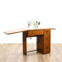 Mid Century Modern Sewing Machine Cabinet Table | Loveseat ...