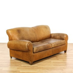 Sofa Furniture In Los Angeles Antique Brown Chesterfield Leather Upholstered Sleeper Loveseat Vintage