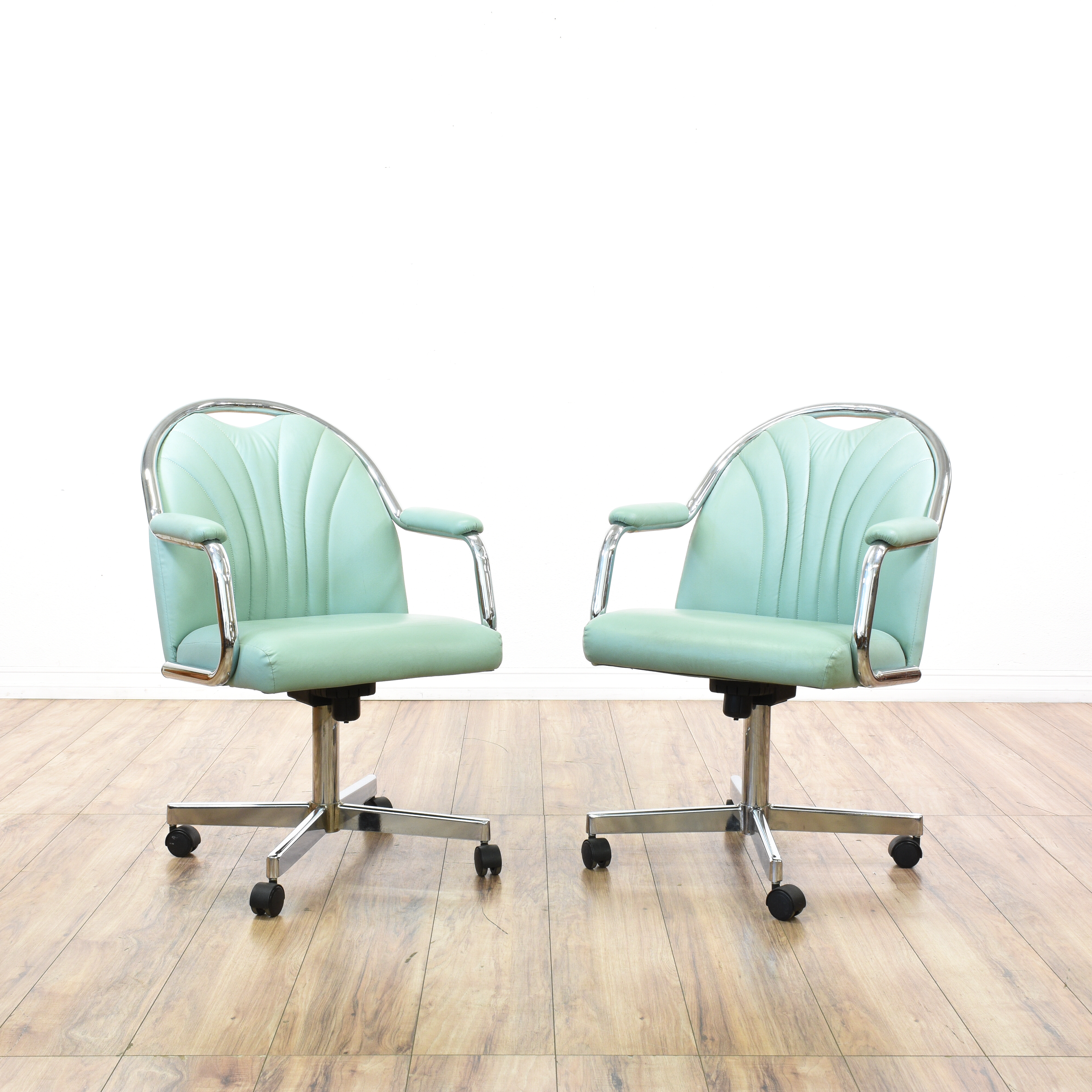 stacking rolling chairs wicker lounge pair of retro chrome swivel loveseat