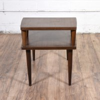Two Tiered Mid Century Modern End Table | Loveseat Vintage ...