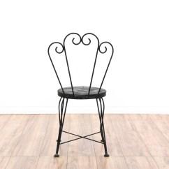 Black Metal Outdoor Chairs Sleeper Chair Bed Pair Of Cafe Loveseat Vintage