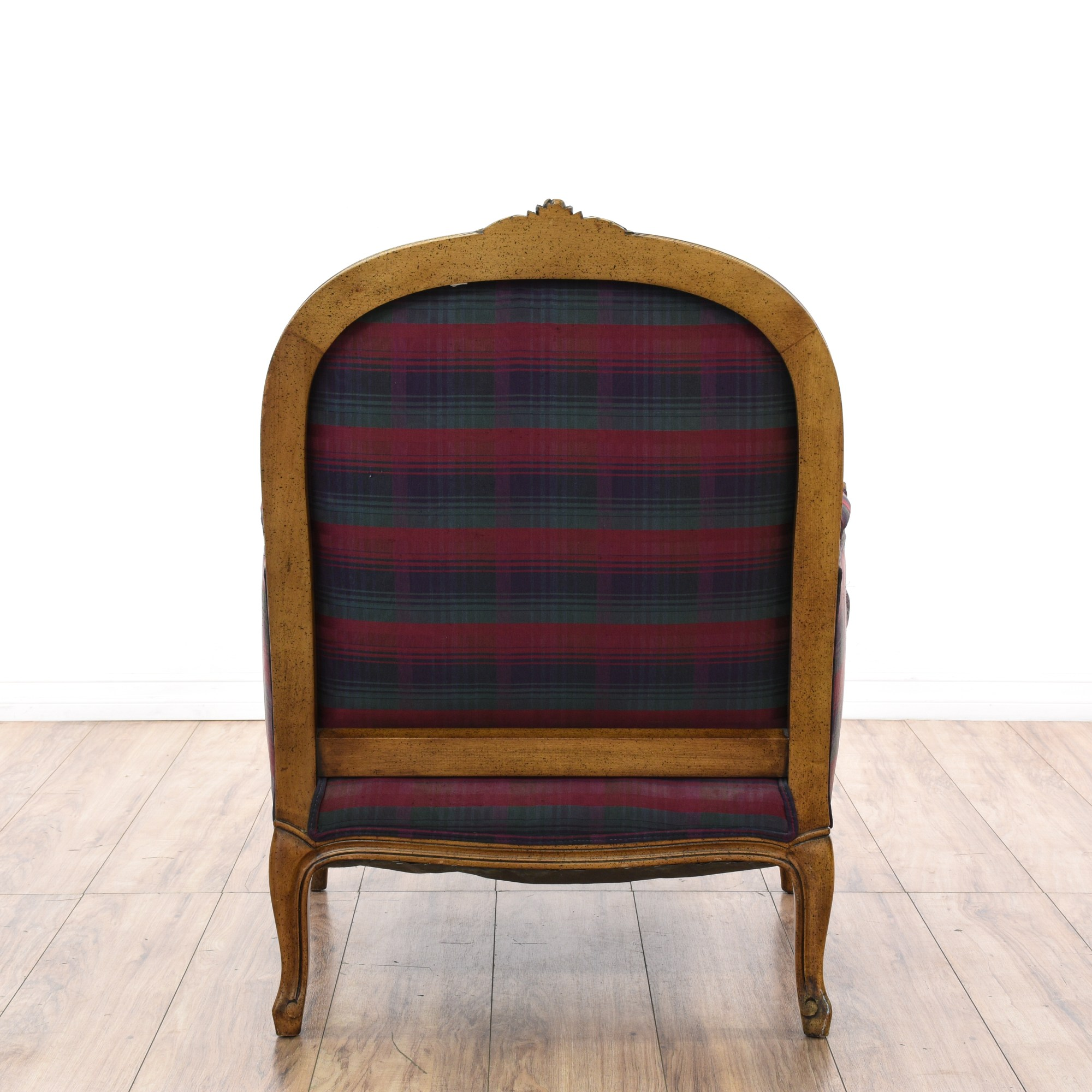 Plaid Chair Madras Plaid Bergere Chair And Ottoman Set Loveseat