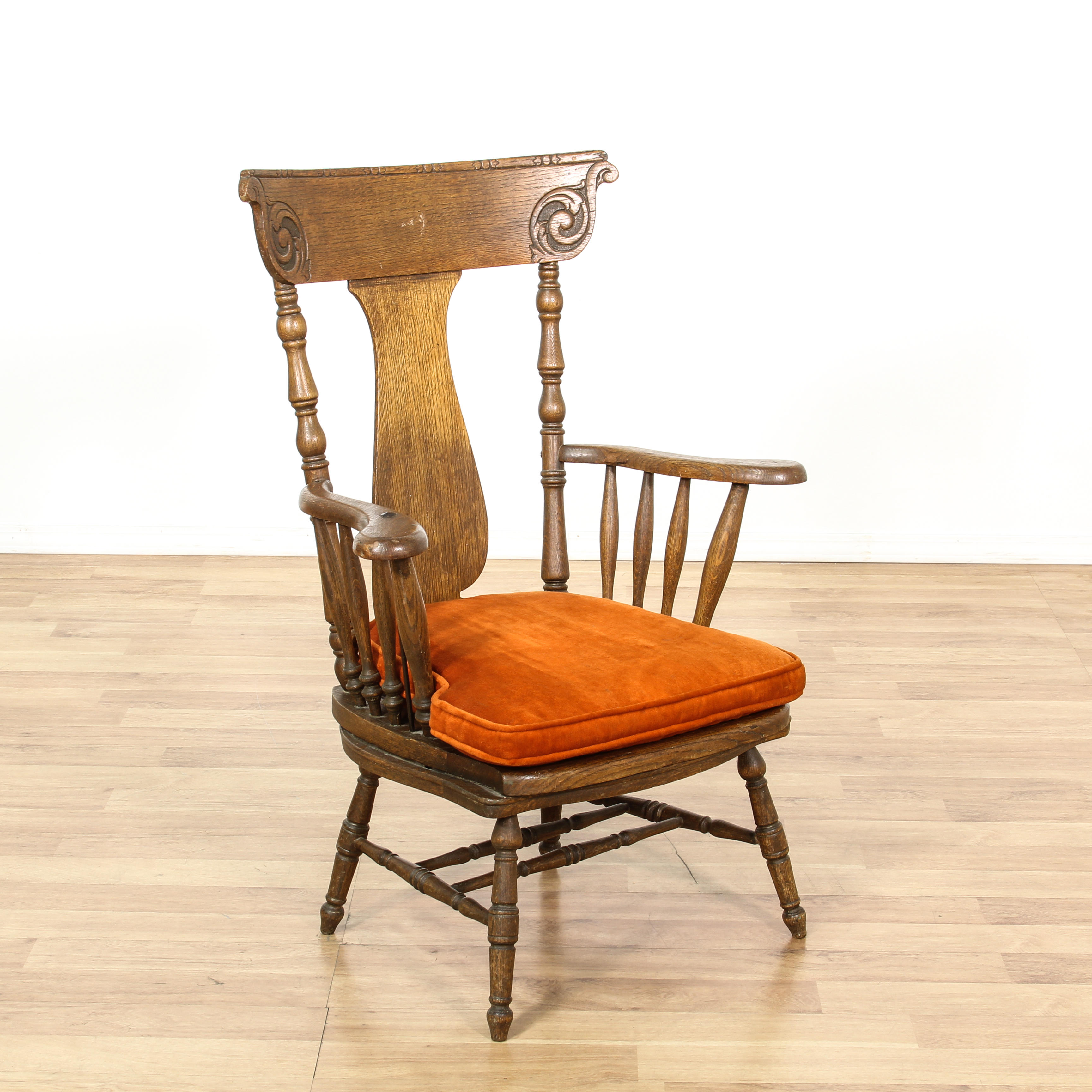 rustic accent chairs swivel chair ladder stand carved oak high back loveseat