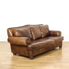 Ralph Lauren Chair Design For Church Style Leather Studded Sofa Loveseat Vintage