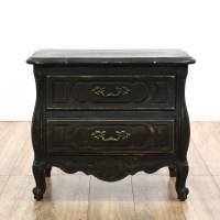 Dark Shabby Chic Nightstand | Loveseat Vintage Furniture ...