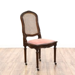 Cane Back Dining Chair Chairs At Walmart Pair Of Loveseat Vintage