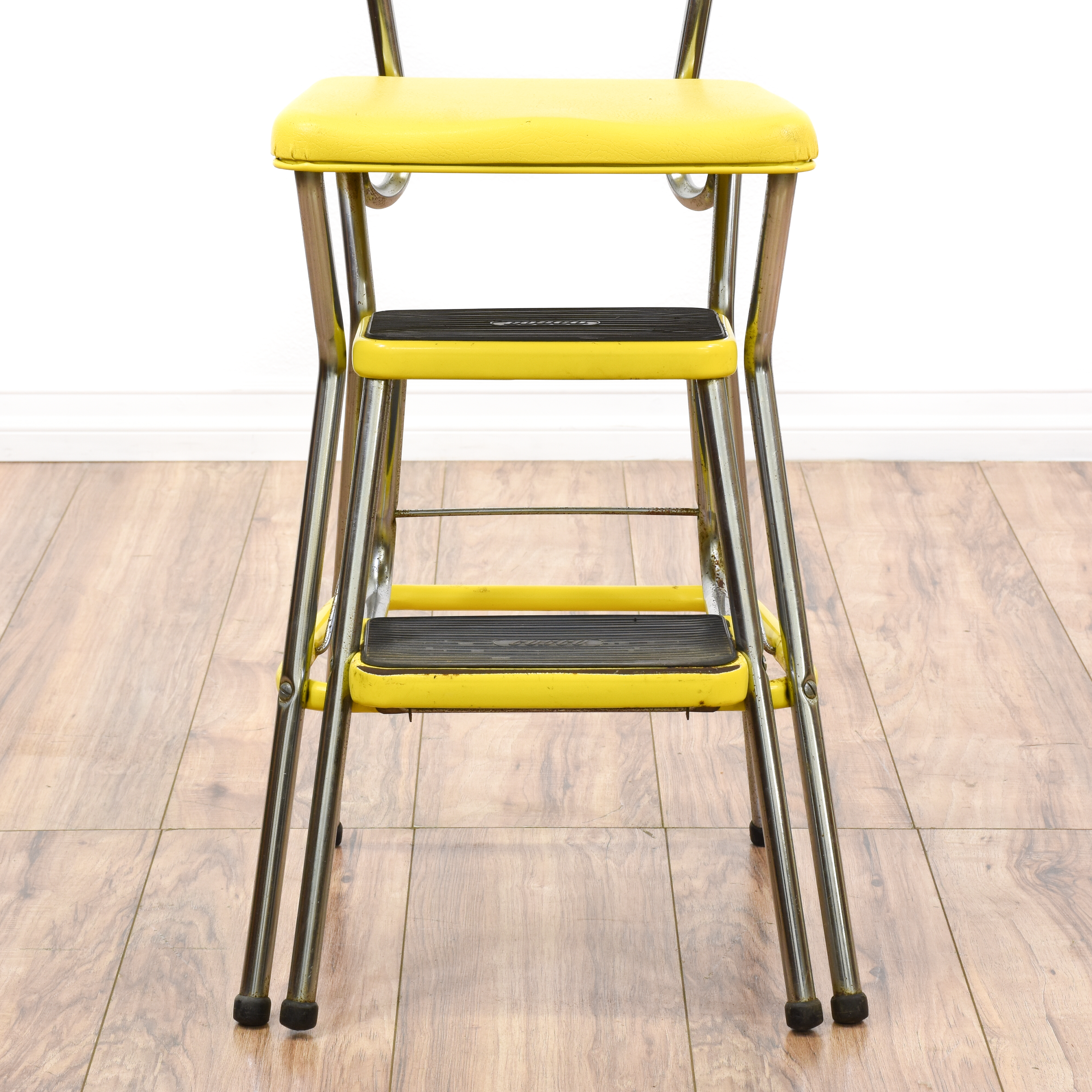 old fashioned kitchen chair step stool delta sinks mid century modern yellow quotcosco quot loveseat