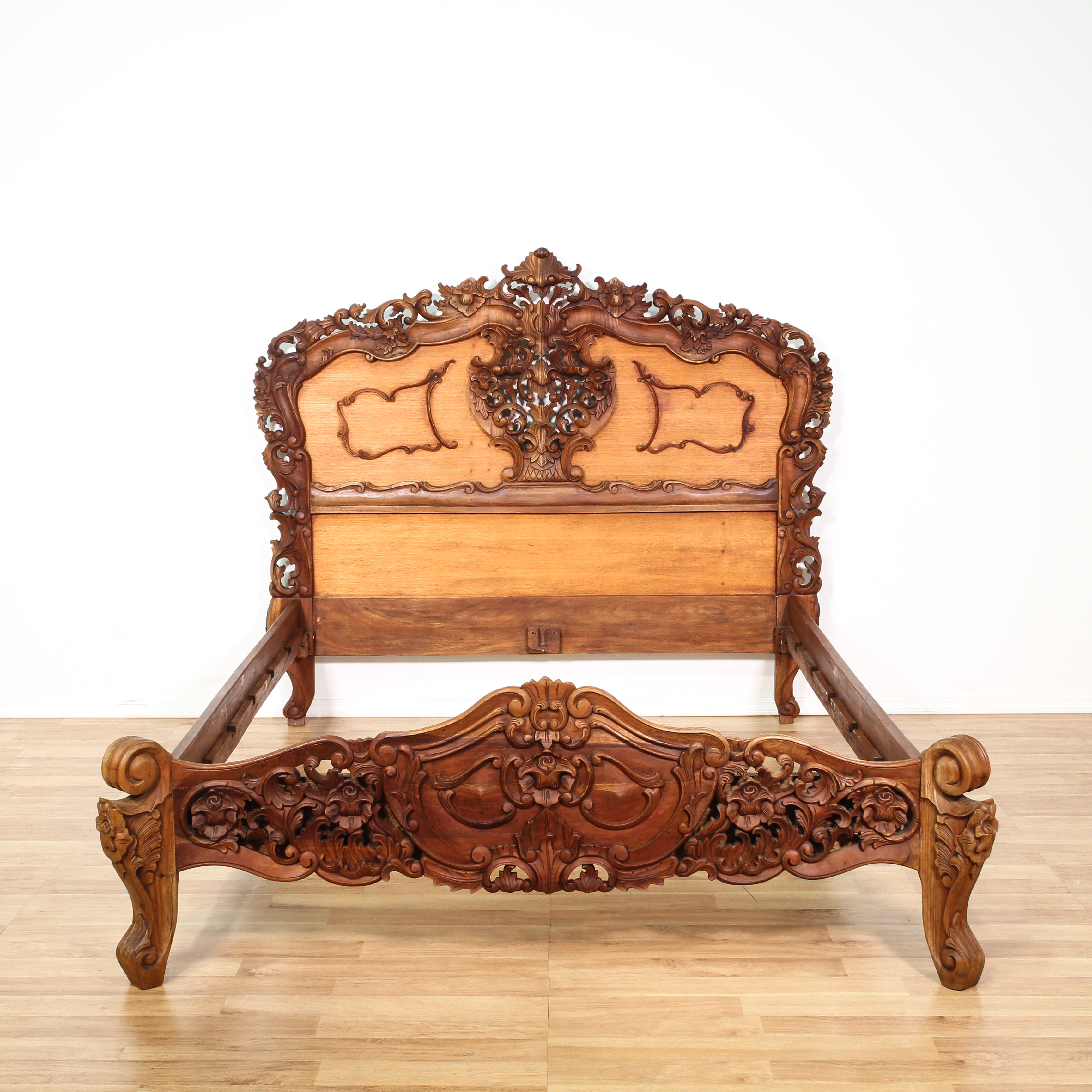 baroque sofa bed table black wood rococo carved mahogany frame loveseat