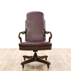 Red Leather Desk Chair Nursery Rocking Quotethan Allen Quot Wine Office Loveseat