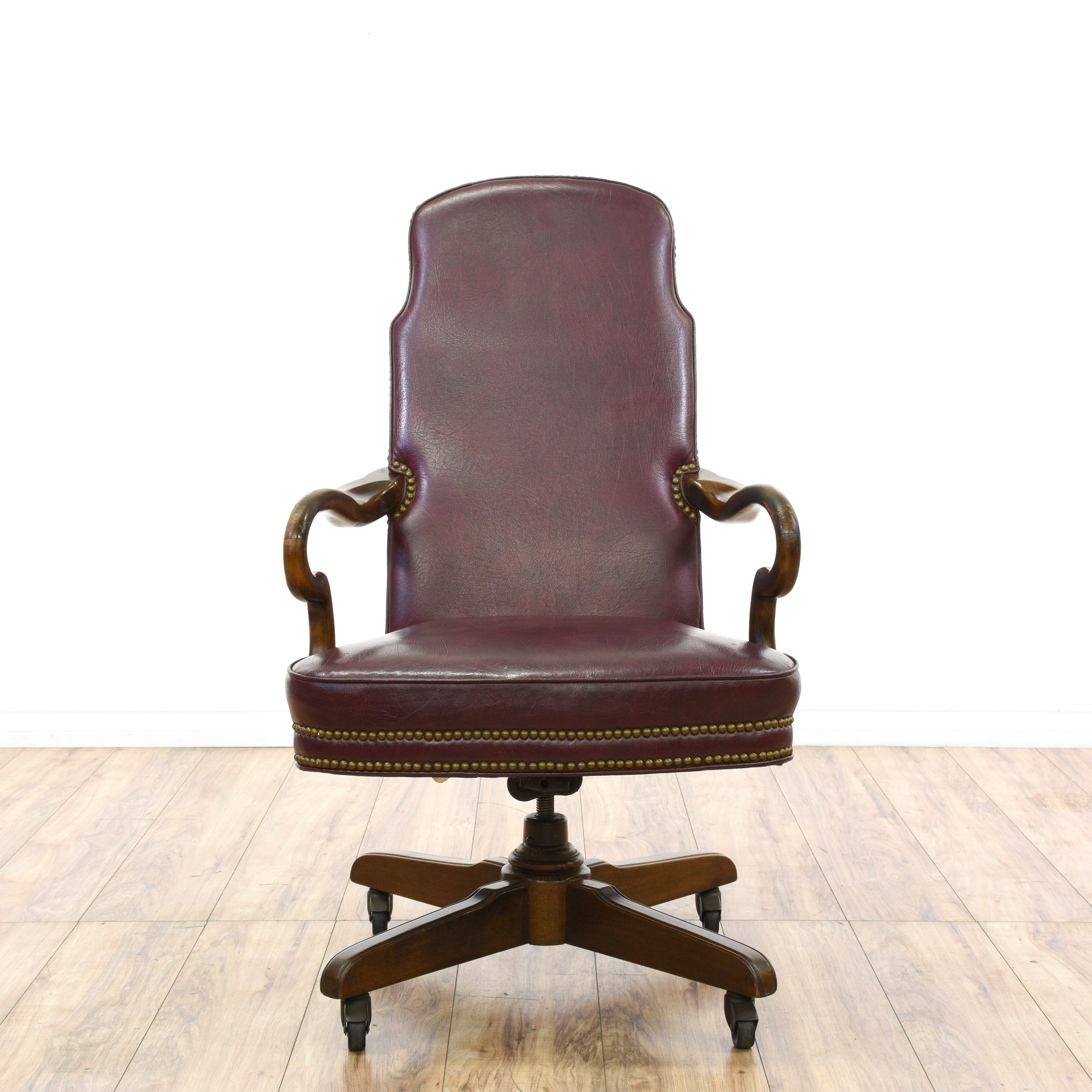 Red Leather Office Chair Quotethan Allen Quot Wine Red Leather Office Chair Loveseat