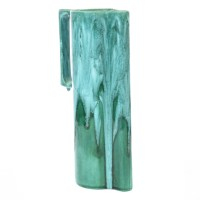Mid Century Teal Studio Pottery Tall Vase Pitcher ...